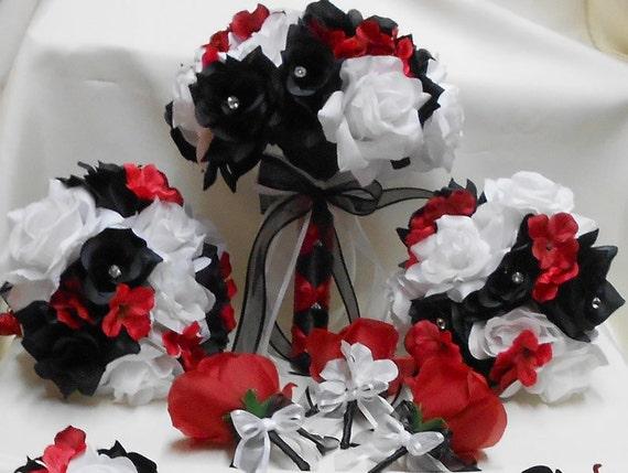 Assez Mariage à soie fleur mariée Bouquets votre couleurs 18 pcs PF25