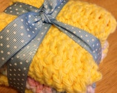 Set of 3 small Sized Pastel and yellow Cloths Dish Cloths