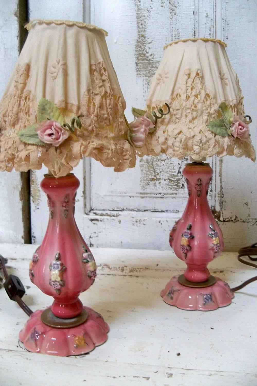 Настольная лампа своими руками шебби шик