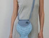 Fish Purse Light Blue with Grey Pastel Purse Quilted Bag Summer Time Small Bag Nautical Boho Bag Hipster Style Ocean Sea Beach Gift For Kids