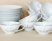 Teacups and Saucers - Set of 12 - Golden Rhapsody by Kaysons International Ltd 1961