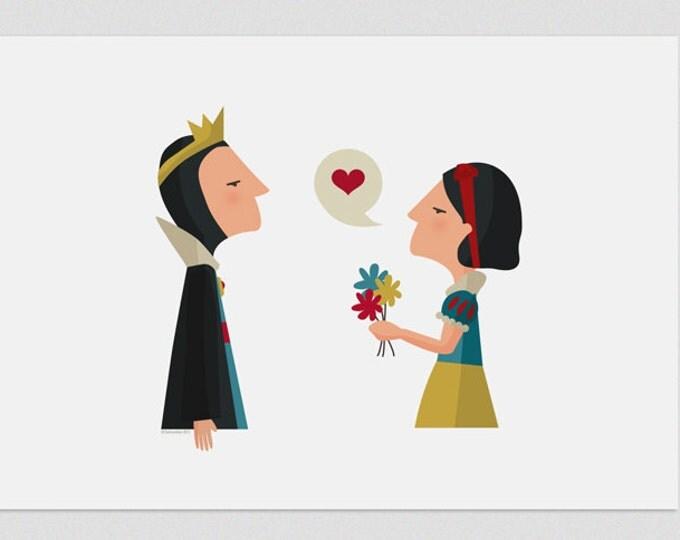 """Ilustración """"Blancanieves"""". Día de la madre."""