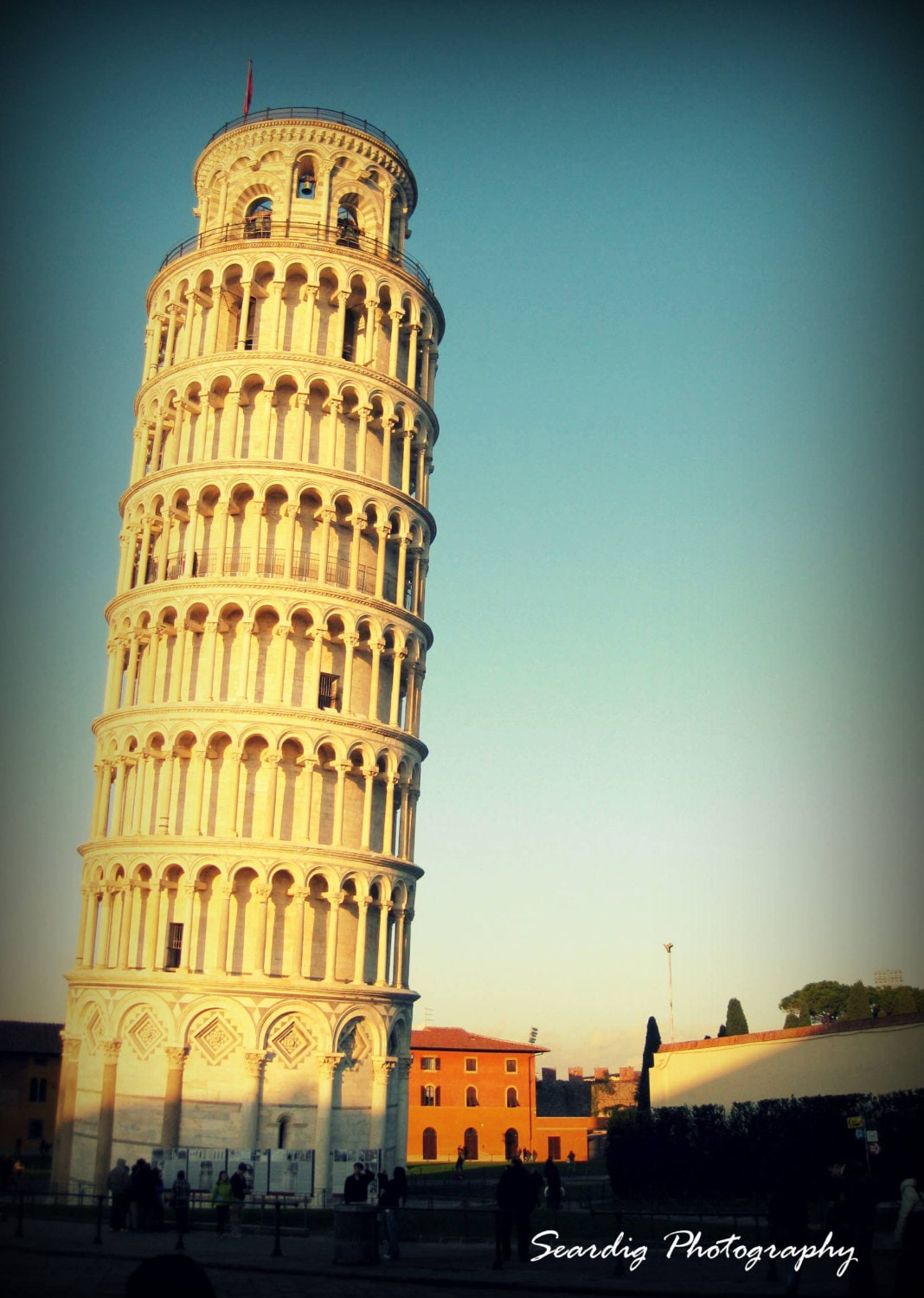 Leaning Tower of Pisa Italy. Architecture Photograph.