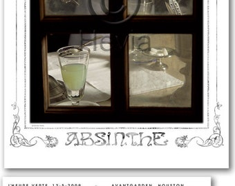 "Absinthe Art Poster Signed Limited Edition ""L' Heure"" Commemorative Poster Special Photograph 3 of Set of 3"