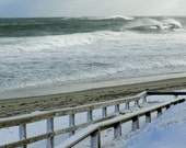 Nauset Beach on Cape Cod Winter Waves Photo