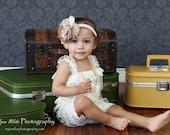 Petti Romper - Lace Romper - Ivory Romper - Girls Romper - Baby Romper - Ruffle Romper - Lace Dress - Baby Outfit