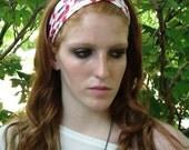 Red Leopard Twist Headband