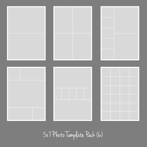 photo collage number templates - 5x7 photo template pack collage photographers storyboard