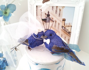 blue birds wedding cake topper etsy your place to buy and sell all things handmade 11977