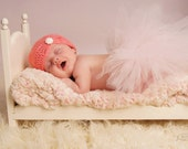 Crocheted Newborn Hat Baby Girl Hat Butterfly Hat Photo Prop Baby Girl