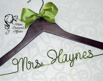 Personalized Wedding Hanger, Hanger, Wedding Dress Hanger, Personalized Bridal Hanger Gift - Rush delivery available