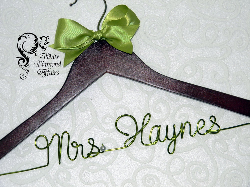 Personalized wedding hanger hanger wedding dress hanger for Wedding dress hangers personalized