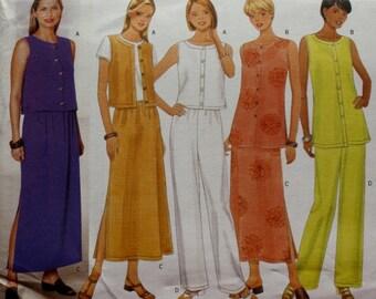Butterick 5589 / Top  Skirt / Pants Sewing Pattern /  Bust 34-36-38