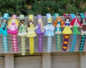 Interchangeable Princess Headbands -  Jasmine, Aurora, Tiana, Belle, Rapunzel, Cinderella, Merida, Snow White, Ariel, Pocahontas, Mulan