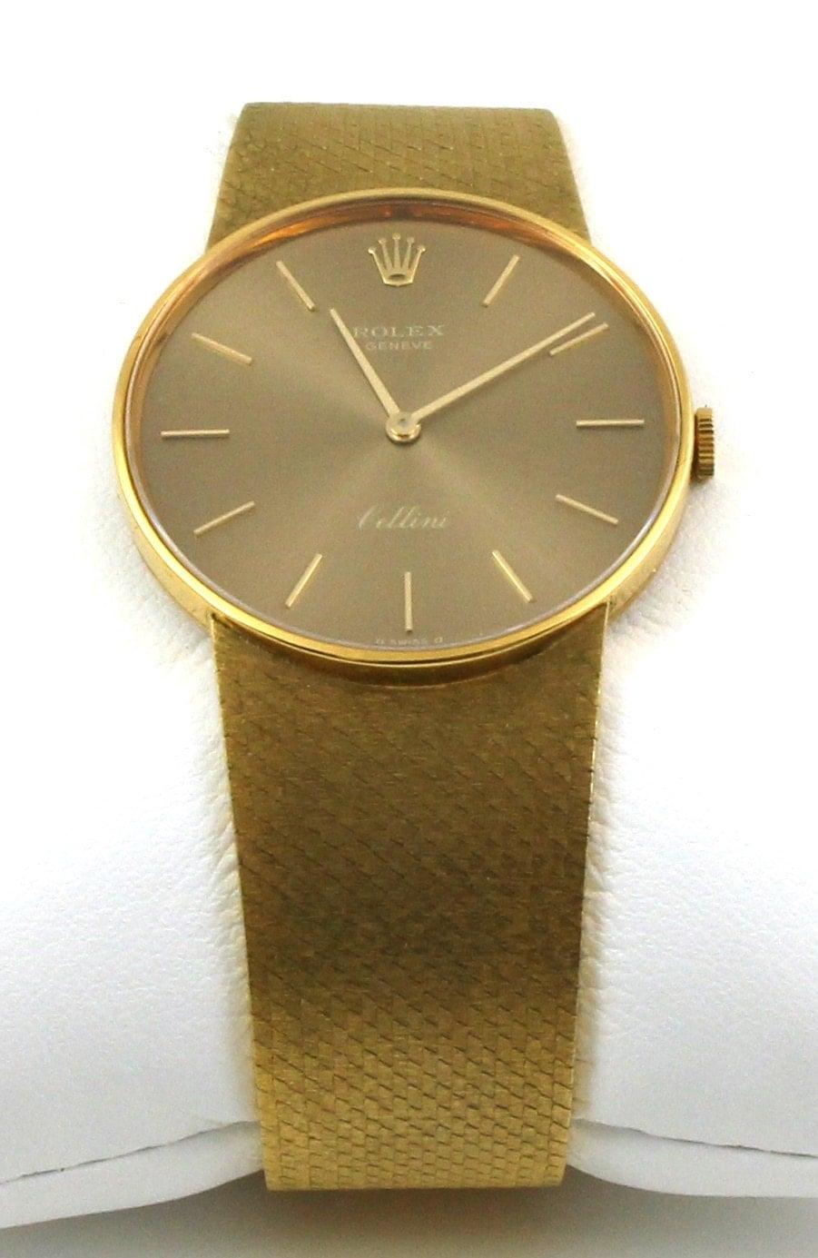 Vintage 1970 S 18k Gold Cellini Rolex