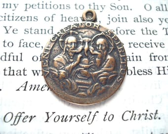 "Holy Spirit - Confirmation MEDAL - 1"" - Bronze or Sterling Silver - Vintage Medal Replica - Made in the USA (M77-929)"