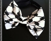 Bow tie Kuffieh Style black red / node Butterfly black red Keffiyeh