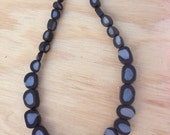 CLEARANCE Nightlife Necklace - black with silver necklace - all handmade beads polymer clay / resin necklace