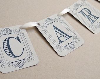 Vintage Eco Wedding Cards Banner, Garland, Bunting, Flags, Wedding Sign, Wedding Bunting, Elegant Wedding, Wedding Post Box