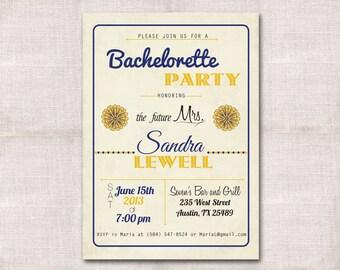 5x7 Bachelorette/Bridal Party Invitation Custom Printable