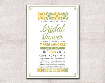 Bridal Shower Invitation Custom Printable