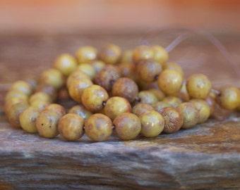 Czech Glass Round Beads - 8mm 10 Pieces