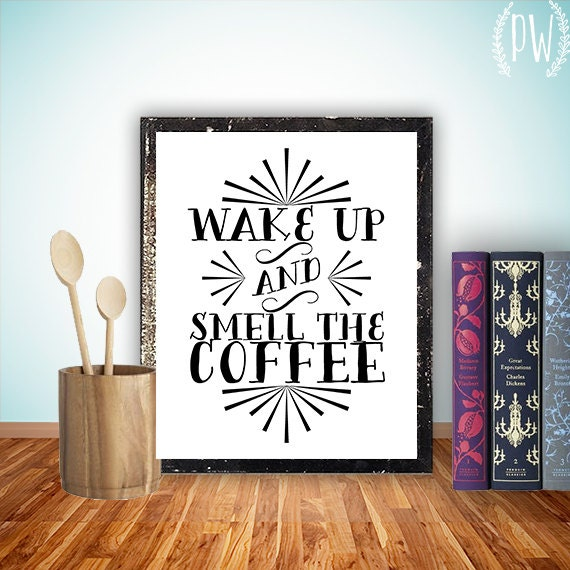Kitchen Art Printable Wall Decor Print Coffee By