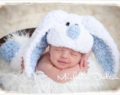 EASTER NEWborn/Baby Bunny hat with floppy ears crochet,easter bunny,made to order for a boy or girl
