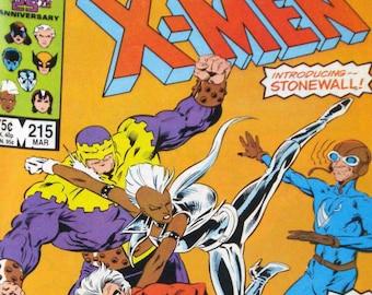 The Uncanny X-Men Comic Book  Marvel Vol. 1, No. 215, March 1987