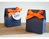 Navy Blue Favor Bags with Ribbon: Create Your Own Favor Kit