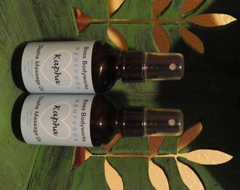 KAPHA Dosha Ayurvedic Massage Oil Spray - Organic, Non-GMO, 2oz - sealed dark amber glass bottle