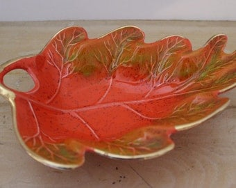 Vintage California Pottery Leaf Ash Tray