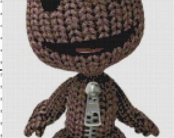Handmade Little Big Planet Video Game Sackboy PDF Cross-Stitch Pattern