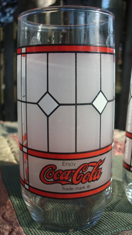 Four Coca Cola Glasses Vintage