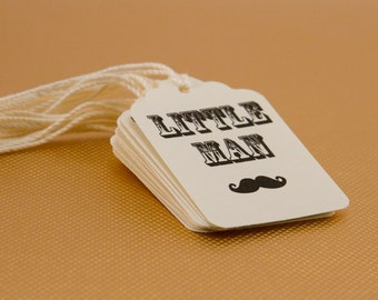 25- Mustache Bash Party Tags, Western Tags, Cardstock, Baby Shower Mustache Tags, little man, Little Man Birthday tags, Party Favor Tags