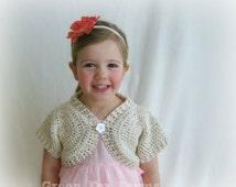 CUSTOM Baby Crochet Shrug Baby Girls Bolero Summer Dress Wrap Crochet Shortie Sweater MADE to ORDER Newborn - Ladies XLg