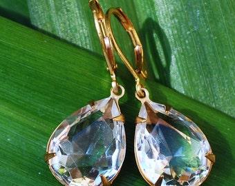 Crystal rhinestone earrings Wedding earrings Bridesmade gift Drop earrings