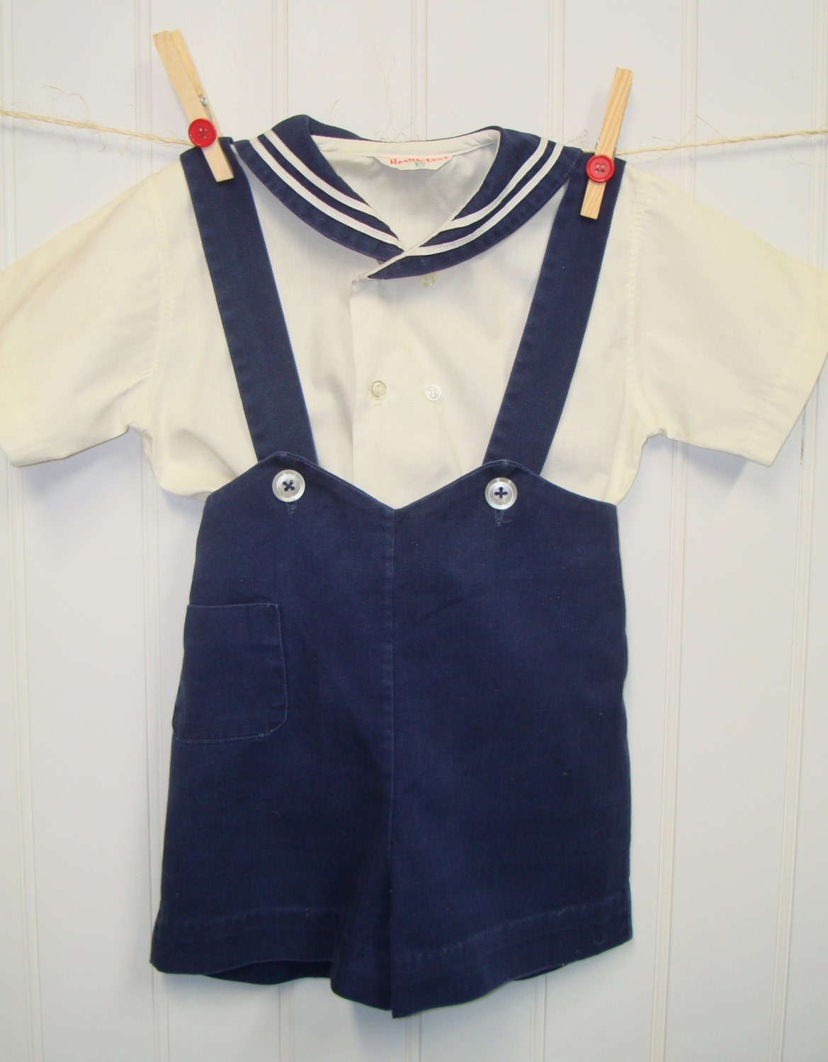 vintage baby clothes baby boy two sailor set