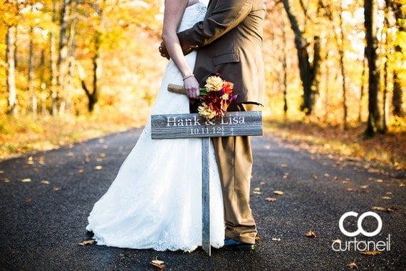 Rustic (STAKE) for Wooden Wedding Sign