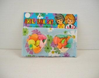Vintage 1970's Plastic Shell Bead Kit