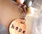 RISERVATO A MARIKA Hope - collana in rame inciso