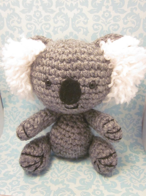 Items similar to Amigurumi Koala Kawaii Doll Crochet with ...