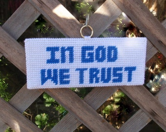 In God We Trust - Needlepoint Sign