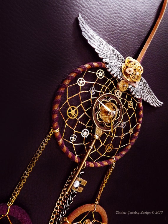 Steampunk Dreamcatcher Clockwork By Cindersjewelrydesign
