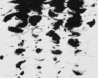 Figure Water Print Monotoype Gothic Dark Shadow Silhouette Fine Art Submerge No. 18