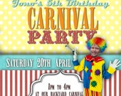 Carnival Party Printable Invitation - with Photo