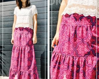 PDF Pattern: Ladies Tiered Maxi Skirt (Pattern Emporium PE1303) - INSTANT Download