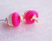 Bow Cupcake Stud Earrings