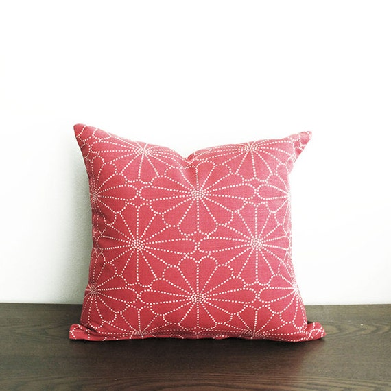 """16""""x16"""" Pink Throw Pillow Cover"""