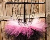 Camryn Tutu - Pink and Black - Rave Tutu - Available in Infant, Toddlers, Girls, Teenager, Adult and Plus  Sizes